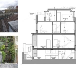 Architect designed mansard roof extension Finsbury Park Islington N7 Section 1 300x266 Finsbury Park, Islington N7 | Mansard roof extension