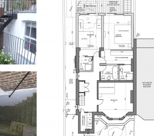 Architect designed rear house extension Tufnell Park Camden NW5 Ground floor 300x266 Tufnell Park, Camden NW5   Rear house extension