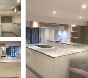 Architect designed mansard roof extension Finsbury Park Islington N7 Kitchen area 300x266 Finsbury Park, Islington N7 | Mansard roof extension