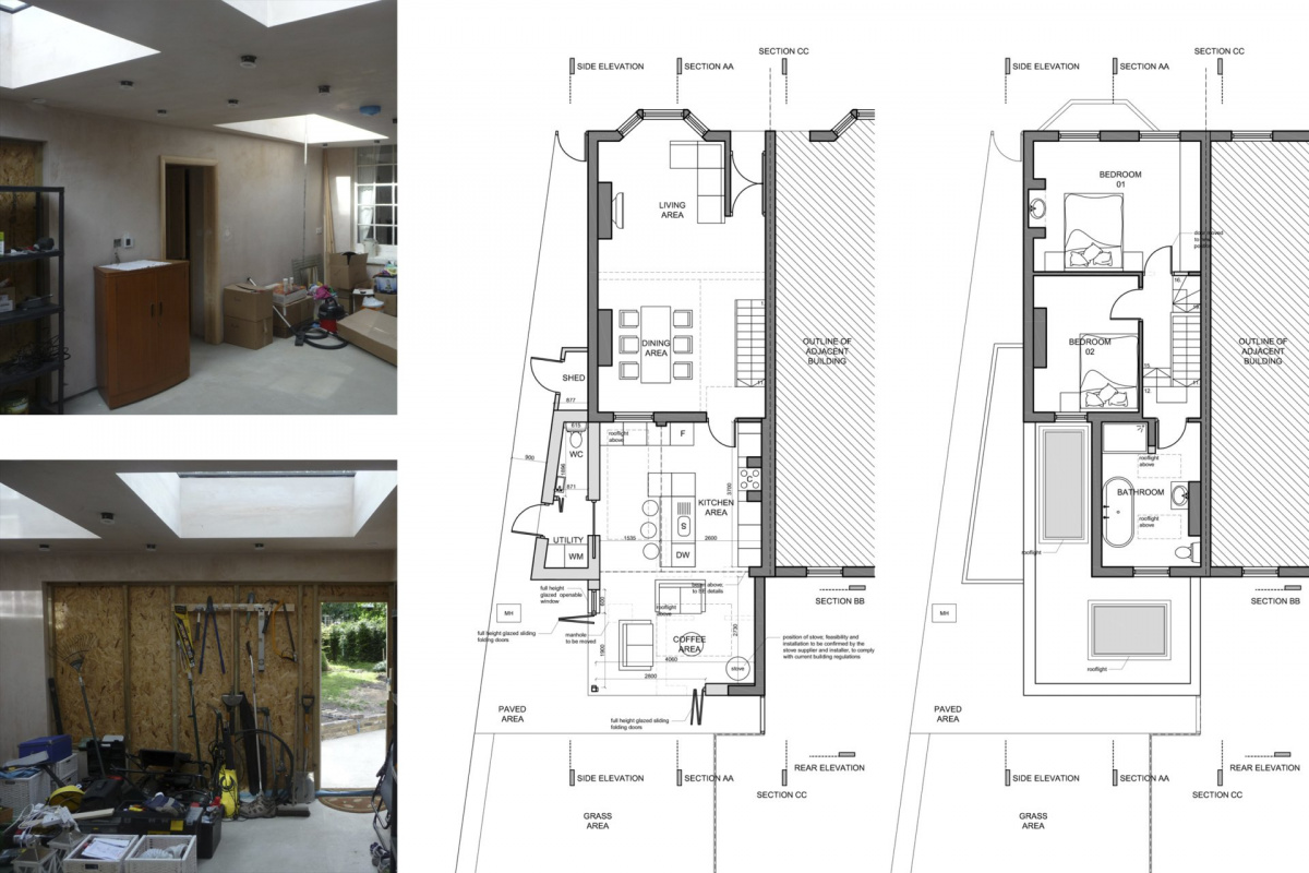 Enfield Chase EN2 Rear house extension refurbishment Floor plans 1200x800 Enfield Chase EN2|Rear house extension and refurbishment