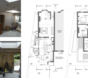 Enfield Chase EN2 Rear house extension refurbishment Floor plans 300x266 Enfield Chase EN2|Rear house extension and refurbishment