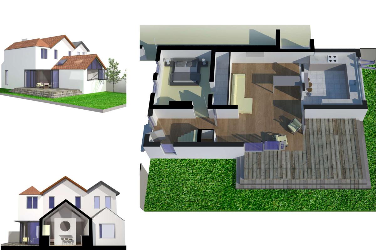 High Barnet EN5 Residential extension locally Listed house 3D visualisations 1200x800 High Barnet EN5 | Locally Listed house extension