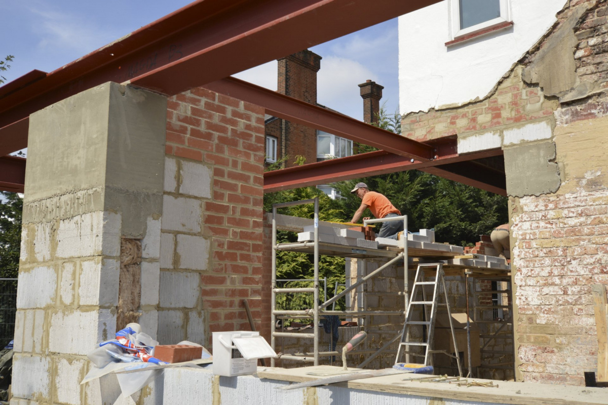 High Barnet EN5 Residential extension locally Listed house Rear construction photo 1200x800 High Barnet EN5 | Locally Listed house extension