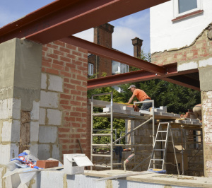 High Barnet EN5 Residential extension locally Listed house Rear construction photo 300x266 High Barnet EN5 | Locally Listed house extension
