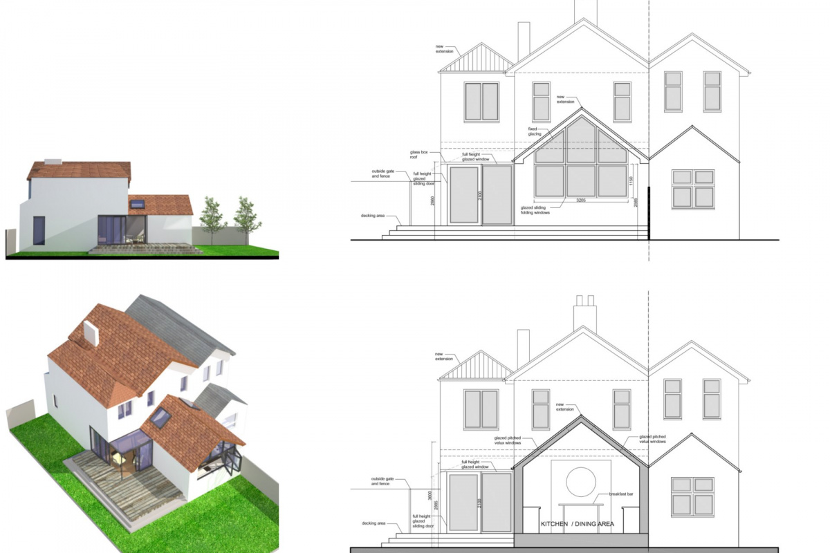 High Barnet EN5 Residential extension locally Listed house Sections and elevations 1200x800 High Barnet EN5 | Locally Listed house extension