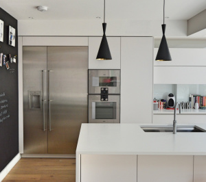 Architect designed rear house extension Highgate Haringey N6 – Kitchen area 300x266 Highgate, Haringey N6 | Rear house extension