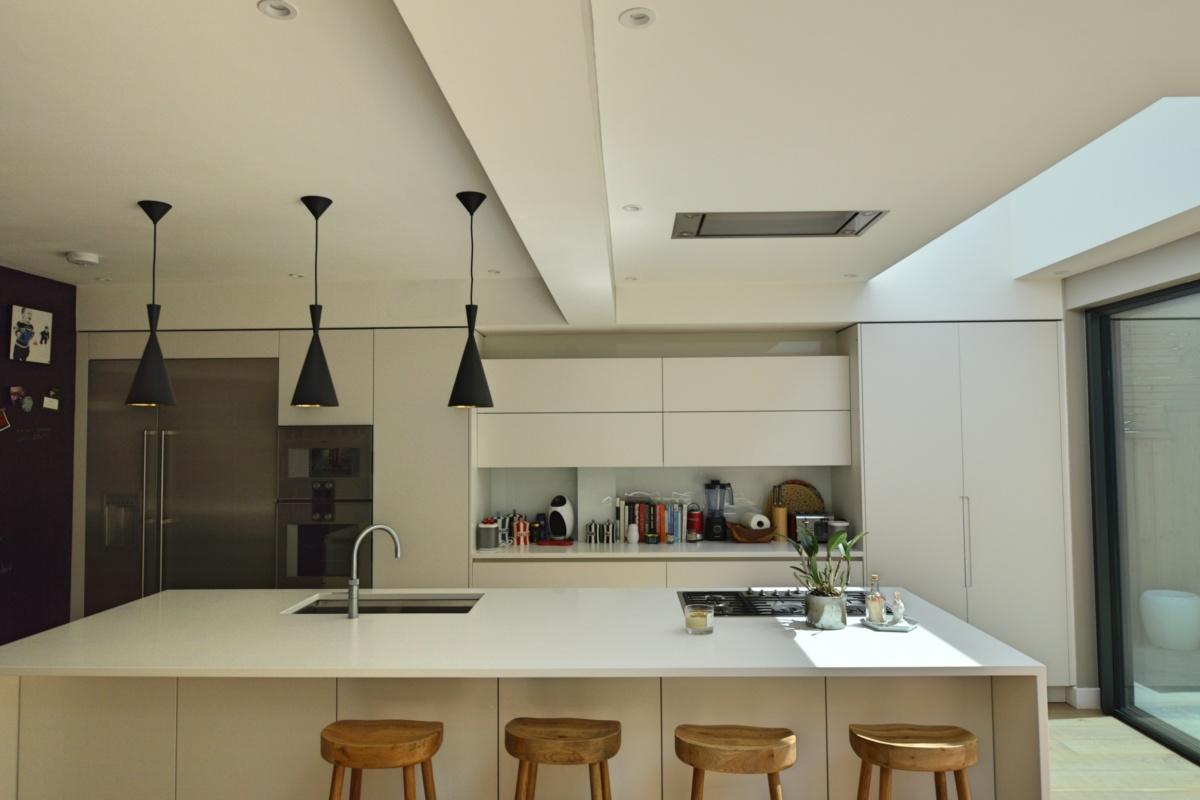 Architect designed rear house extension Highgate Haringey N6 – Kitchen breakfast area 1200x800 Highgate, Haringey N6 | Rear house extension