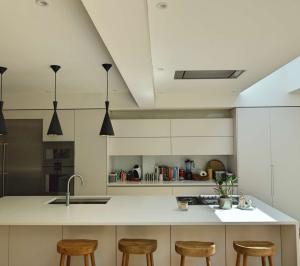Architect designed rear house extension Highgate Haringey N6 – Kitchen breakfast area 300x266 Highgate, Haringey N6 | Rear house extension