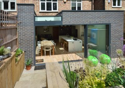 Architect designed rear house extension Highgate Haringey N6 – Rear elevation 400x284 GOAStudio | London Residential Architecture